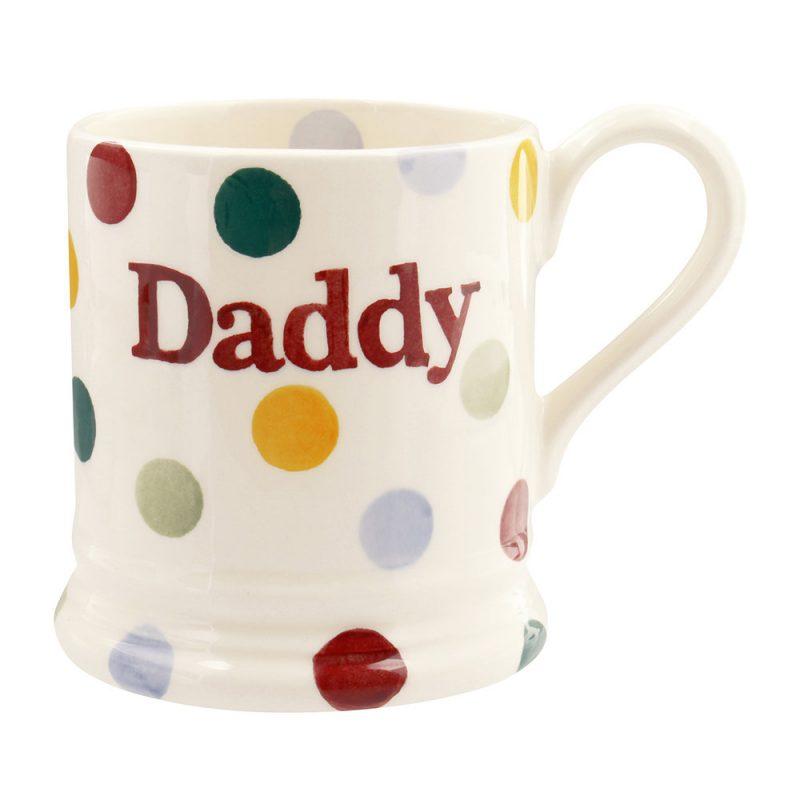 Polka dot daddy mug