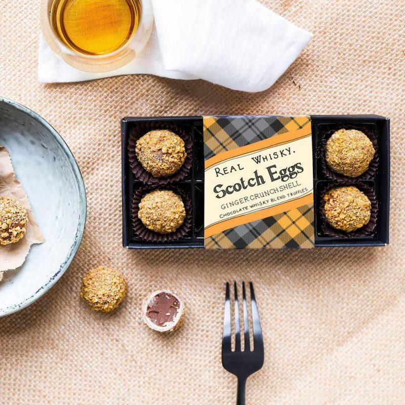 Chocolate scotch egg truffles