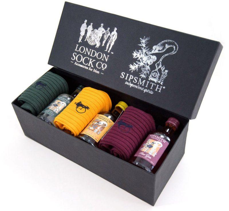 Socks and gin christmas gift set