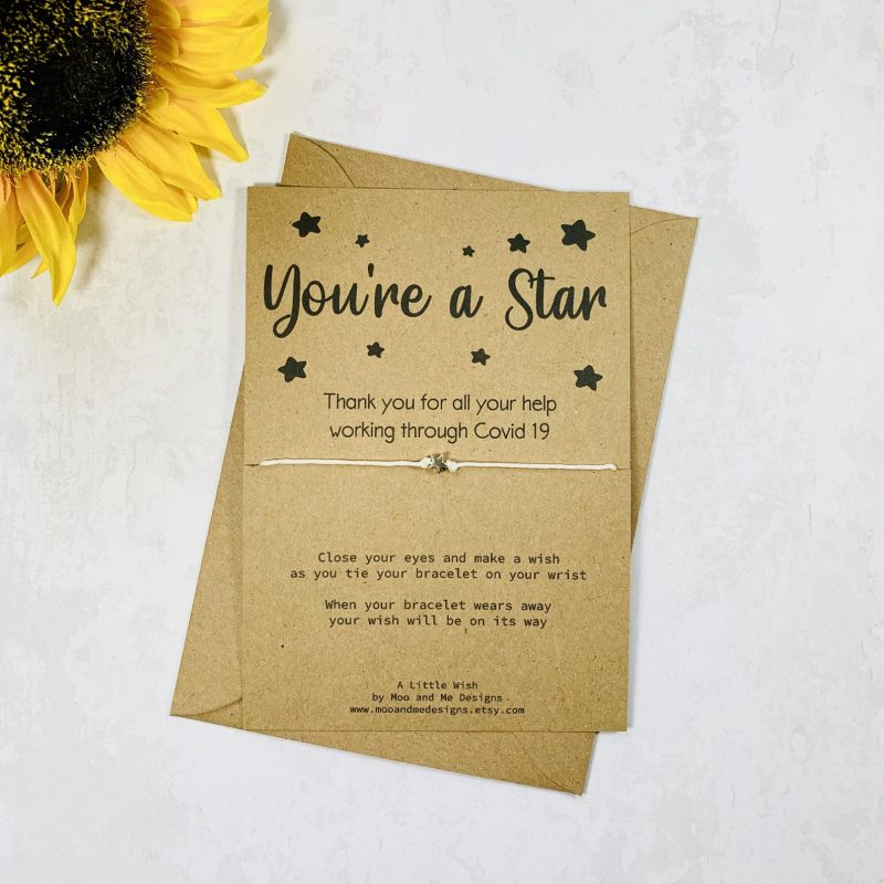 You're a star wish bracelet little gifts for employees
