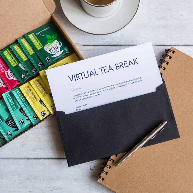 Virtual tea break letterbox hamper