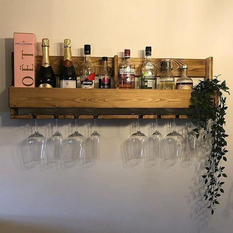 Wall mounted home bar gift idea