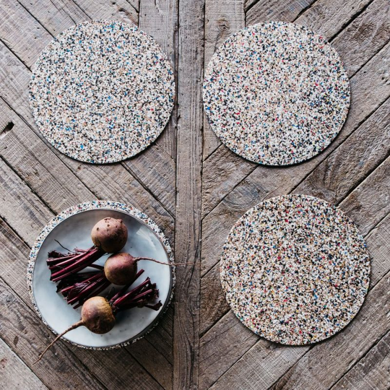 Round Beach Clean Placemats Eco Friendly Gift Idea