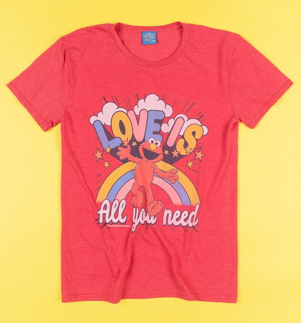 Elmo Love Is All You Need Red Sesame Street T-Shirt
