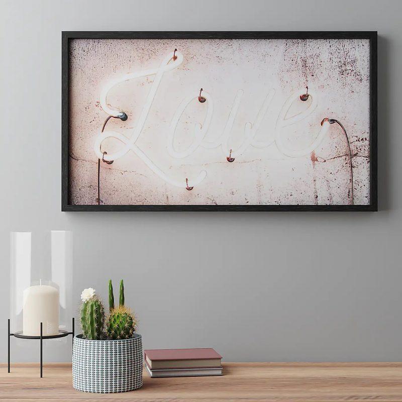 Framed Dunelm Love print