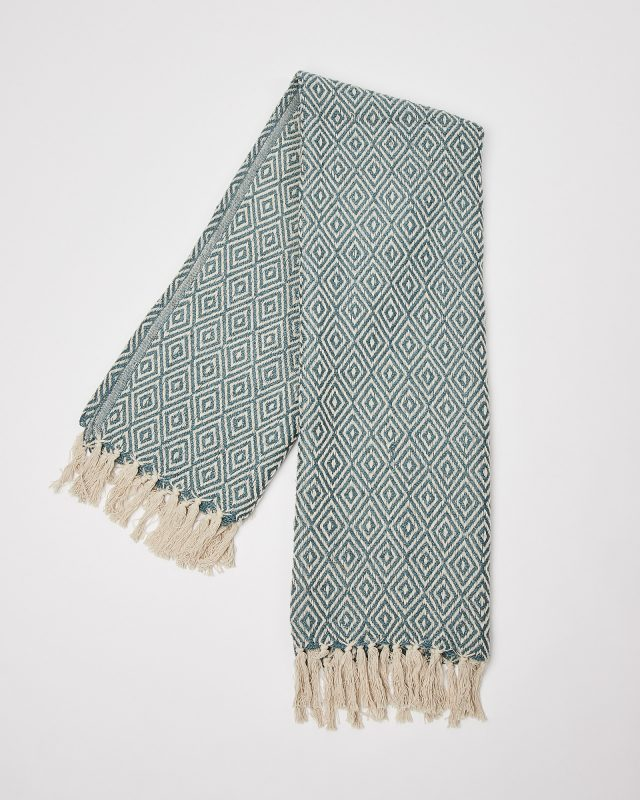 Sustainable gift idea Dos Recycled Cotton Teal Throw