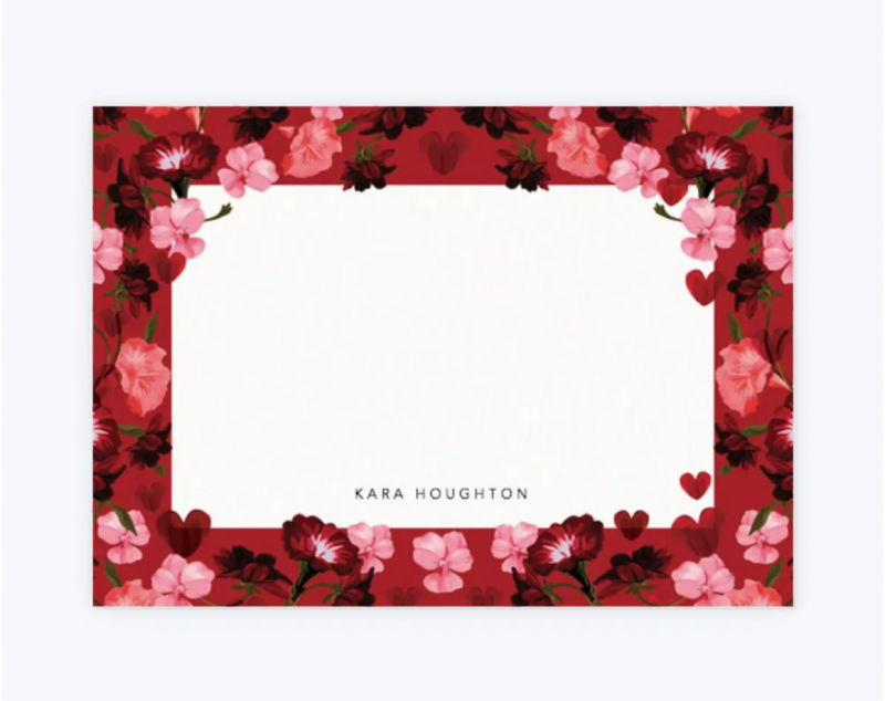 Red notecard set papier