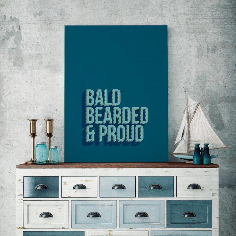 Bald, bearded, proud