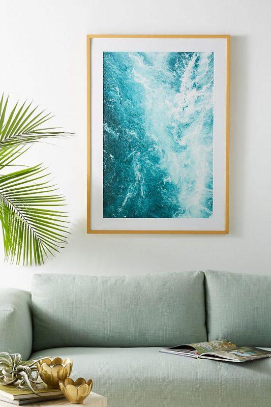 Calming rapids wall art