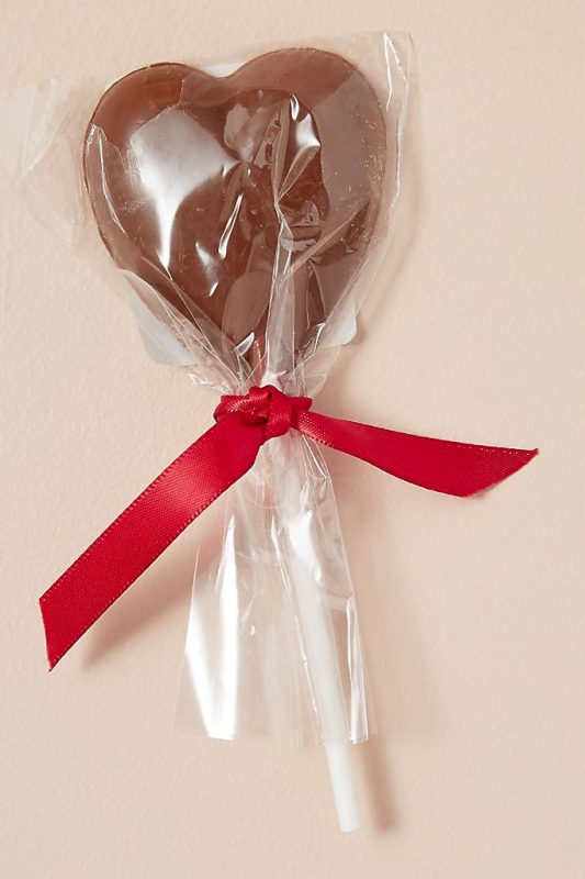 Chocolate heart lollipop Valentine's Day gifts for him