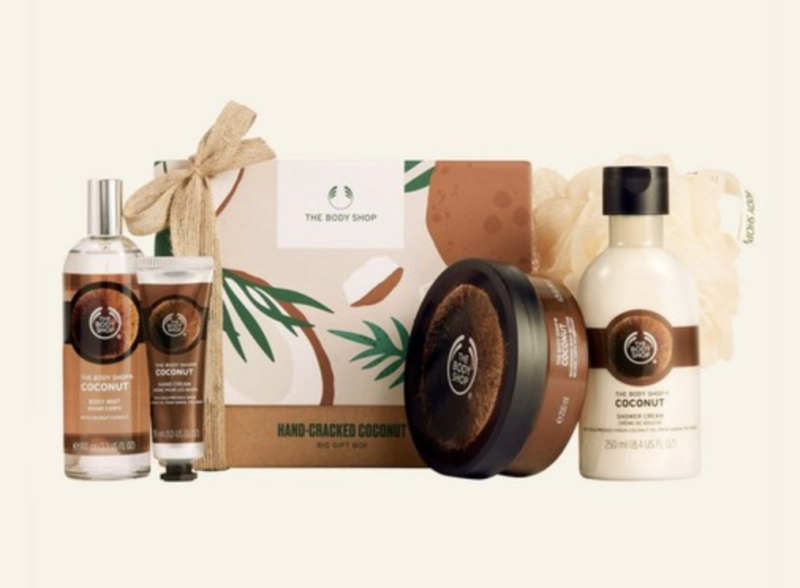 Hand-cracked coconut gift set