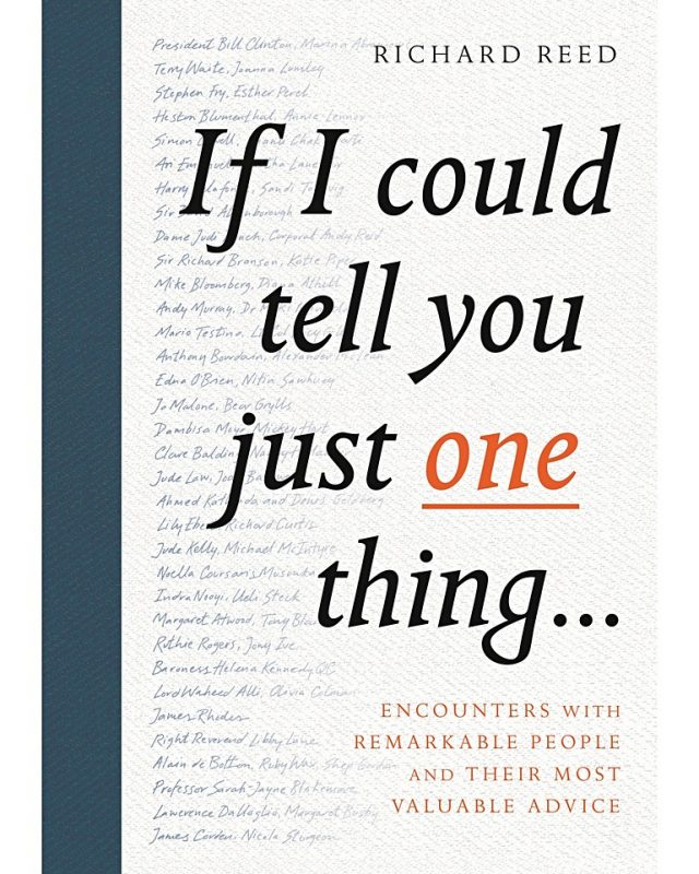 If I could tell you just one thing book