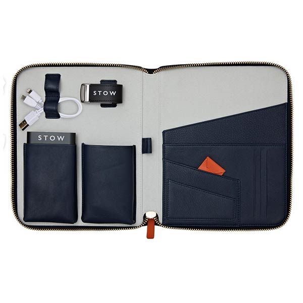Leather tech travel case