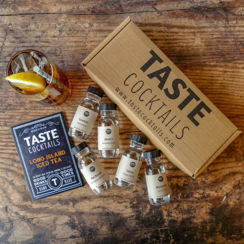 Long Island iced tea cocktail gift set