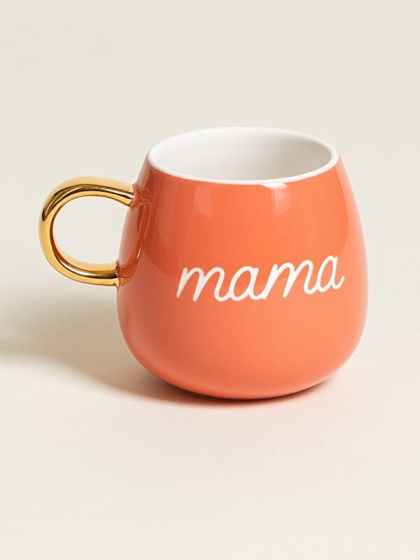 Orange 'mama' mug