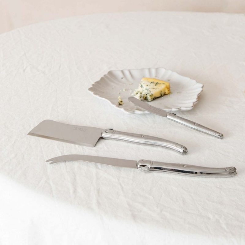 Steel cheese knife set