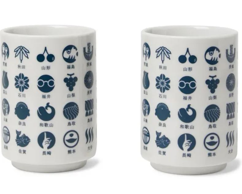 Japanese themed ceramic cups