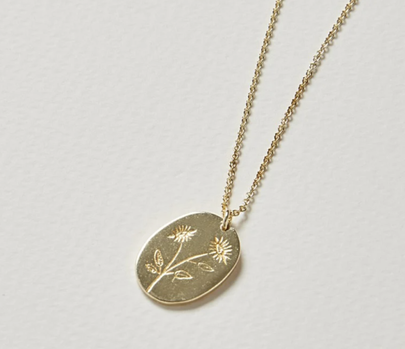 Watch me bloom necklace