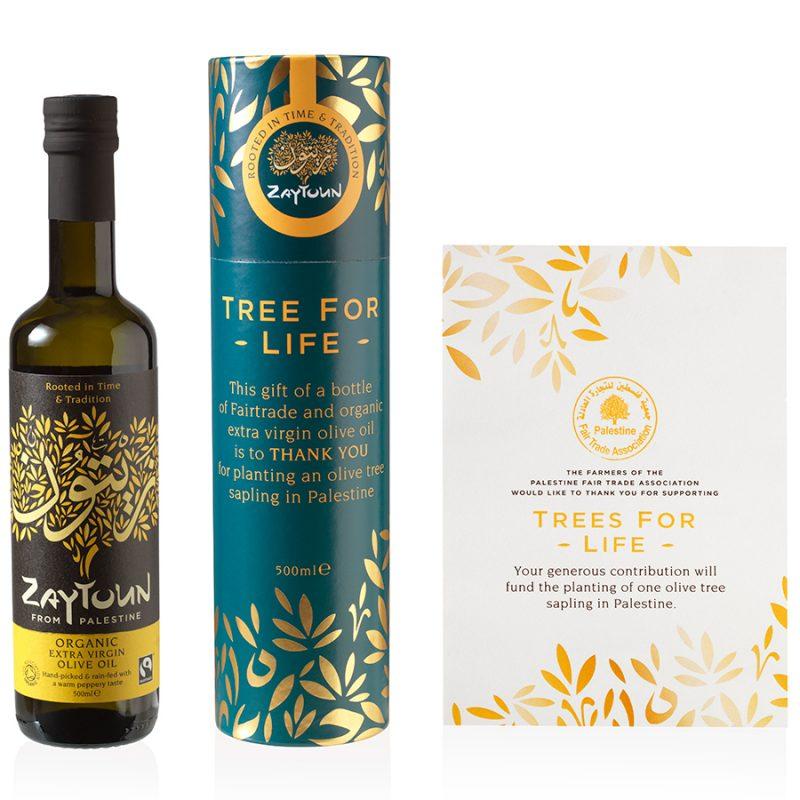Zaytoun Olive Oil & Tree Donation Gift Set
