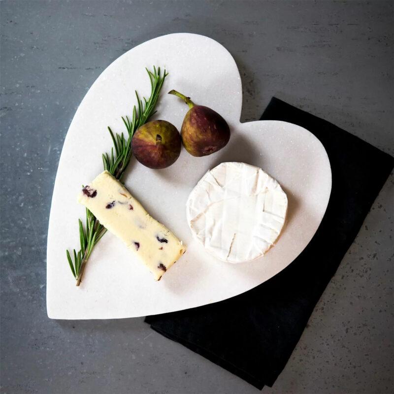 Argon Tableware Heart Shaped Marble Kitchen Chopping Board