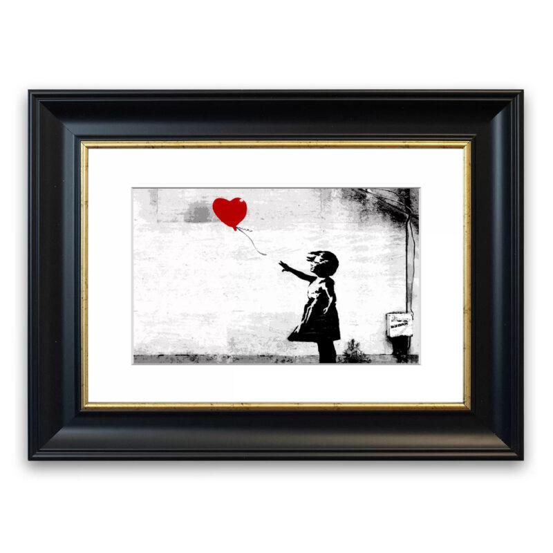 Balloon Girl Love Heart Cornwall