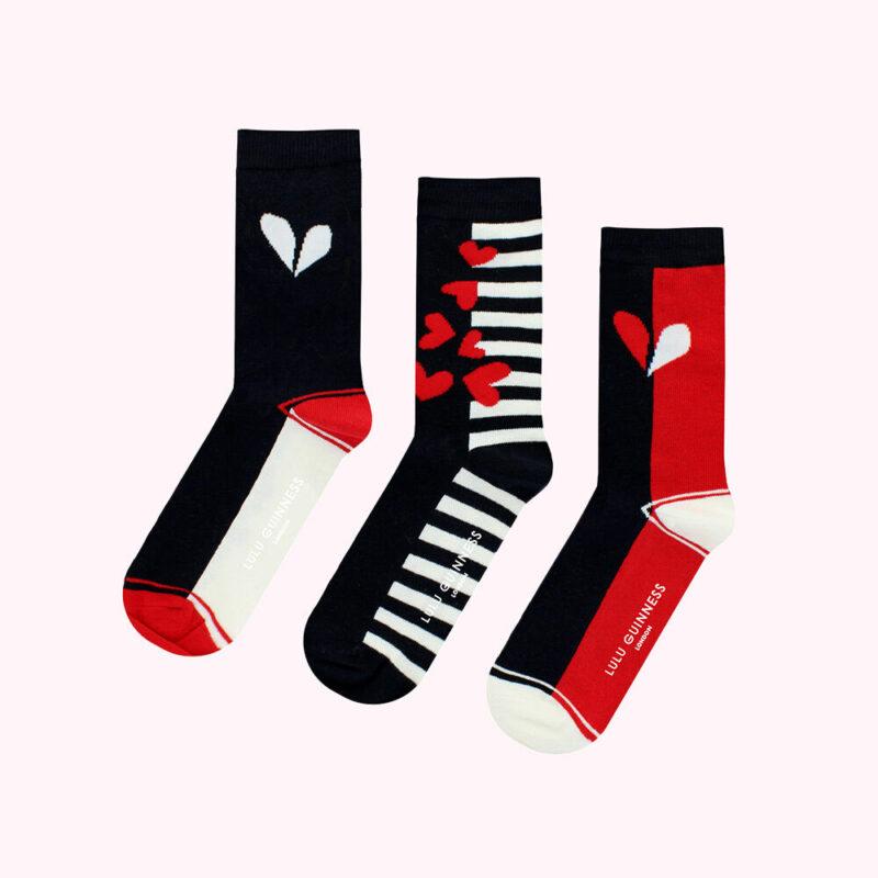Heart Ankle Socks Valentine's Lulu Guinness