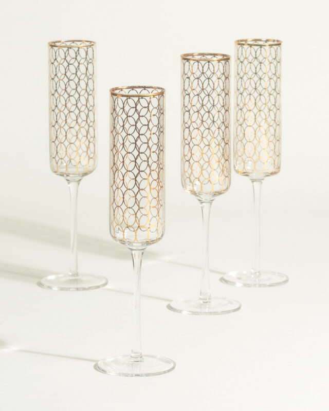 Champagne Glasses in gold gift