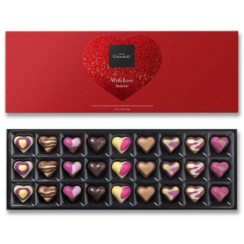 Heart Chocolates for Valentine's Day