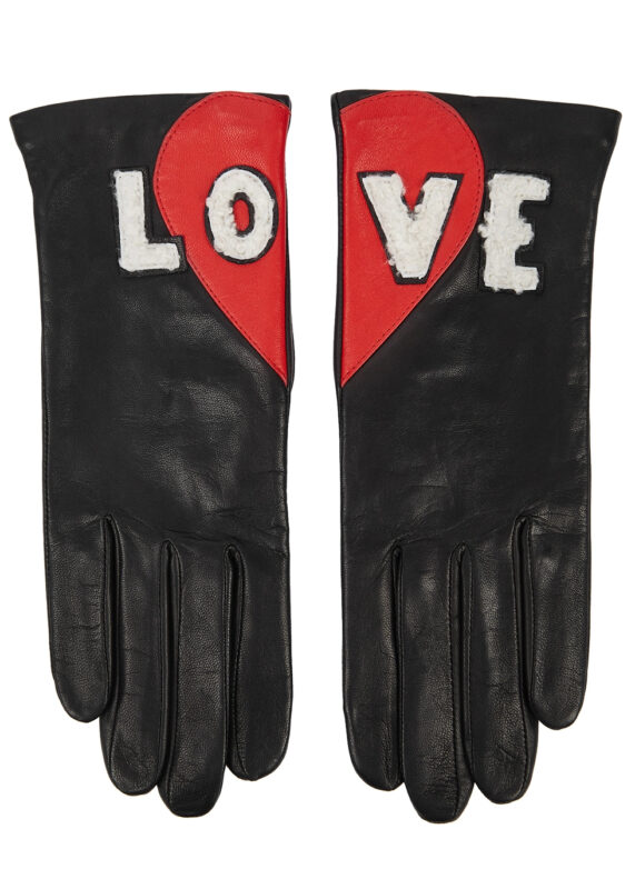 Valentine's Day gift ideas for her Leather Heart gloves