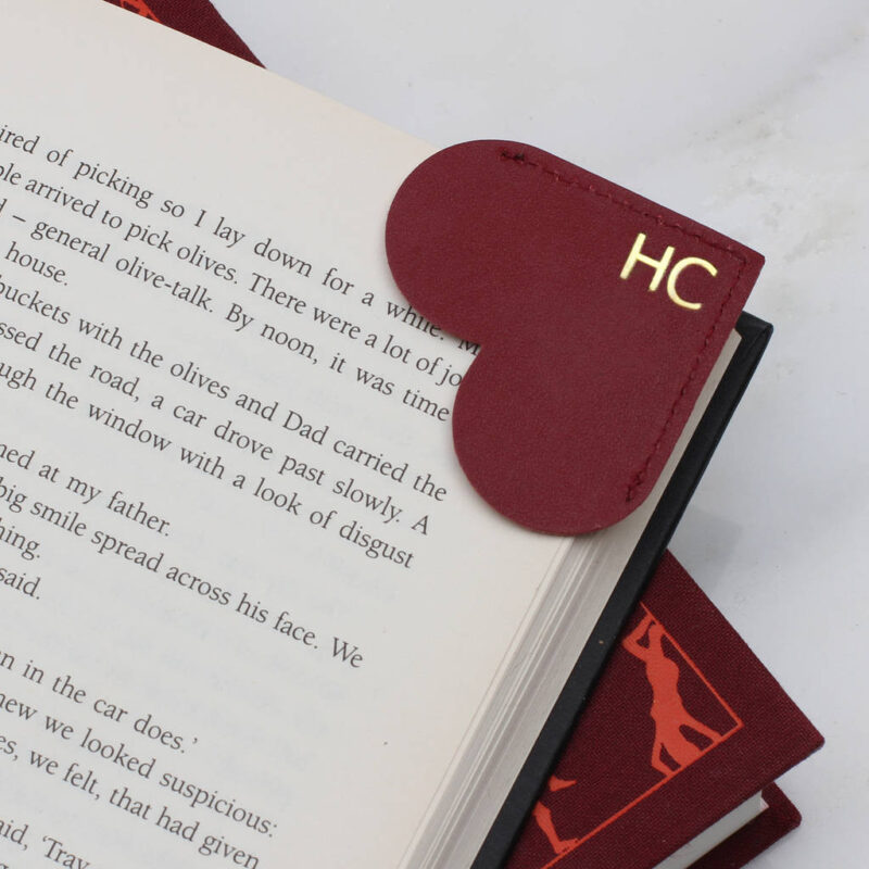 Leather Heart Page Corner Bookmark