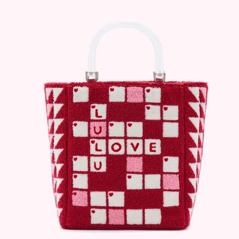 Raspberry Crossword Bibi Tote