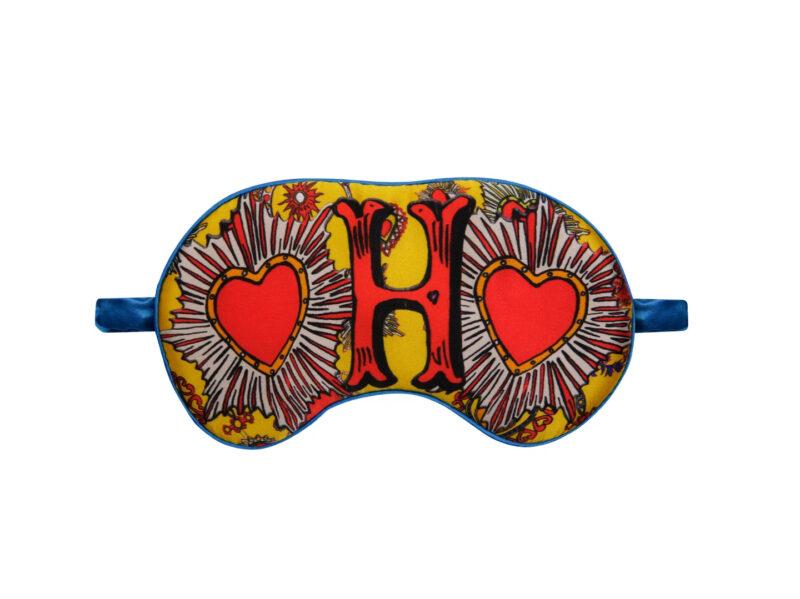 H For Hearts Silk Eye Mask