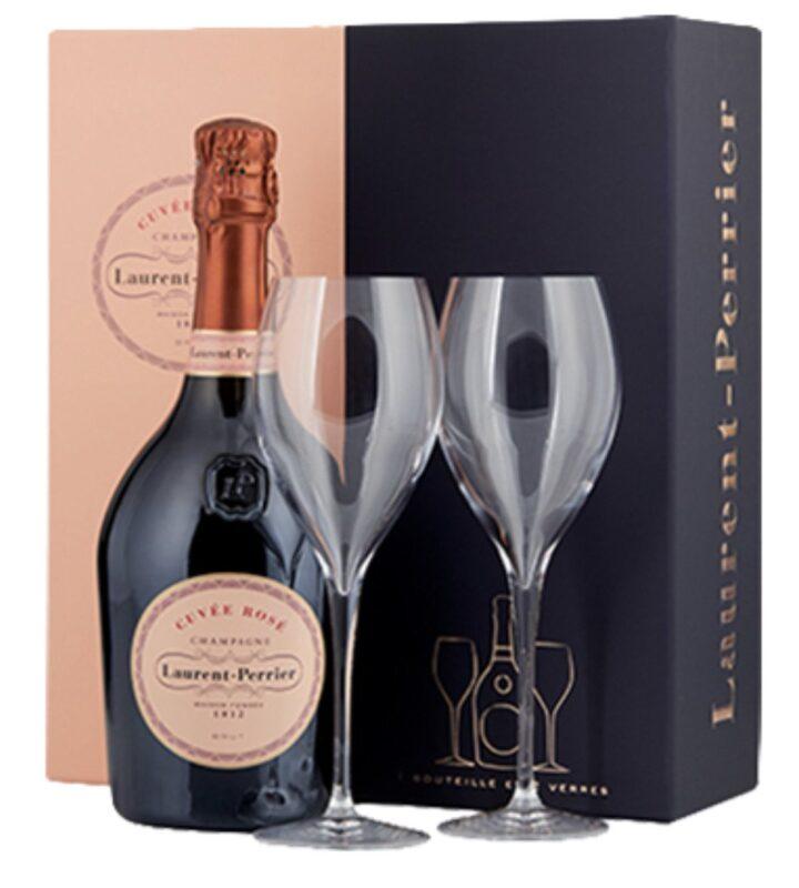 Laurent-Perrier Rose La Cuvee 2 Flute Set Champagne