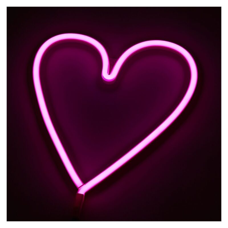 Neon Heart Light in Pink