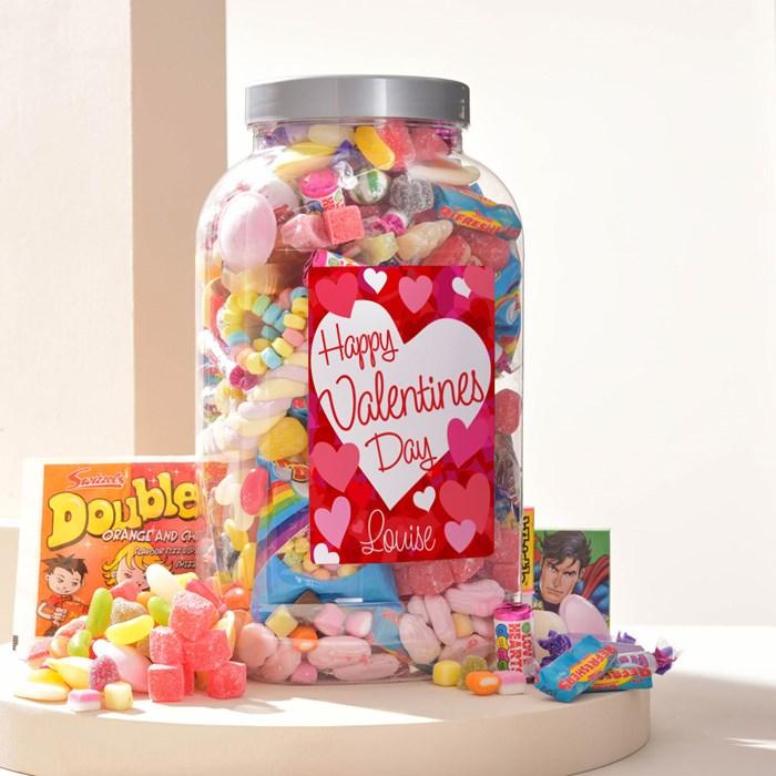 Personalised Valentine's Day Retro Sweet Jar