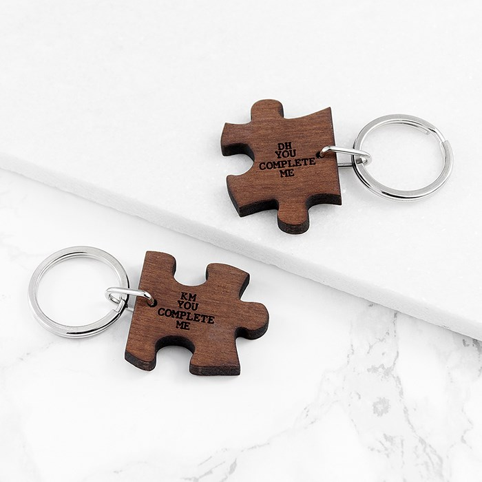 Personalised You Complete Me Jigsaw Key Rings Valentine's day gift ideas for her