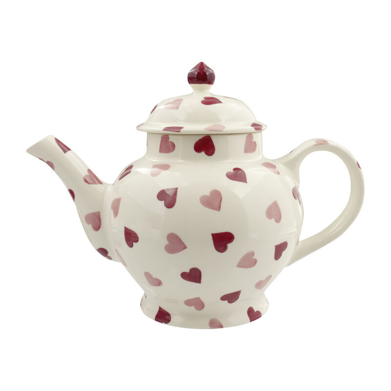 Pink Hearts Teapot Valentine's Gift Ideas For Her
