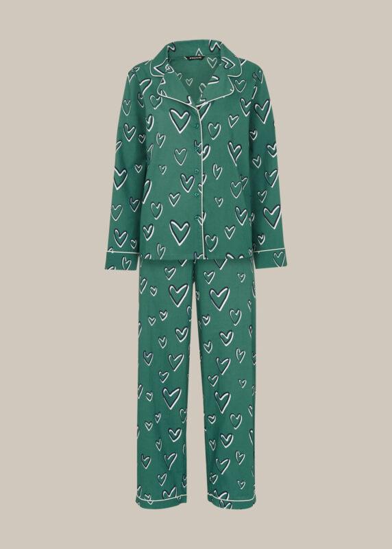 Heart Print Cotton Pyjama Set