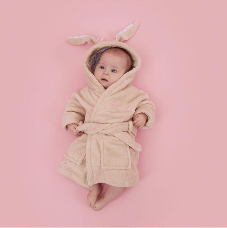 Cute bunny towel robe