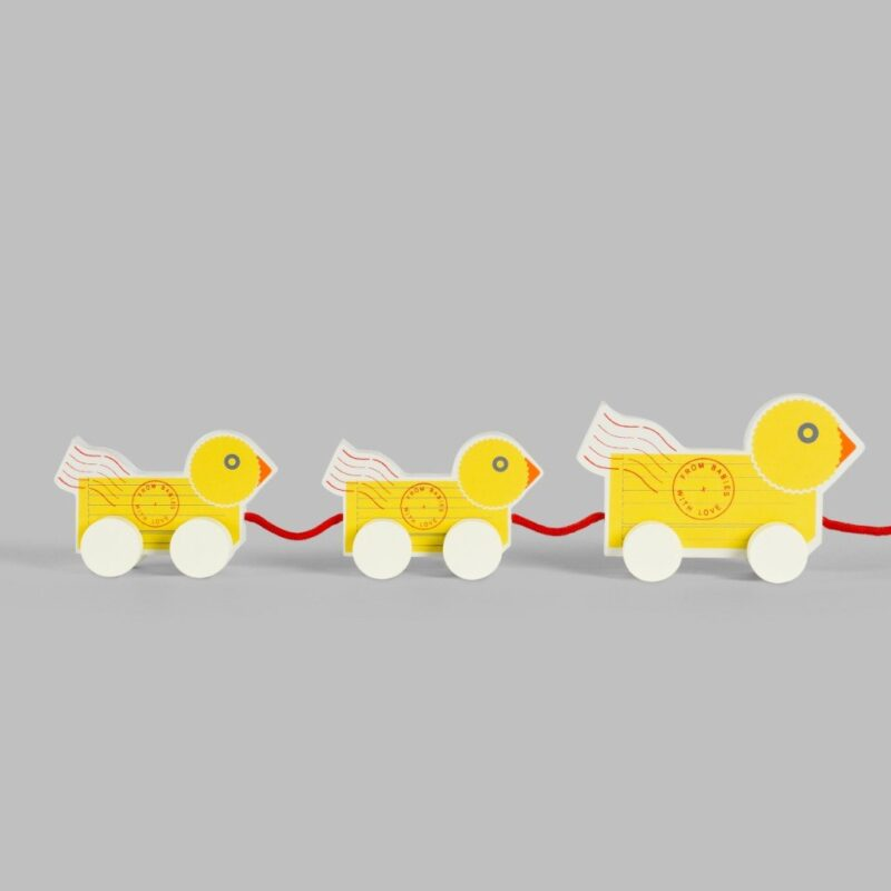 Duck Family Pull-Along Wooden Toy