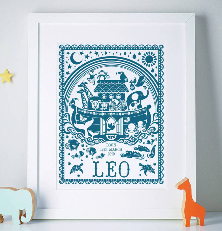 Cute Noah's ark nursery print