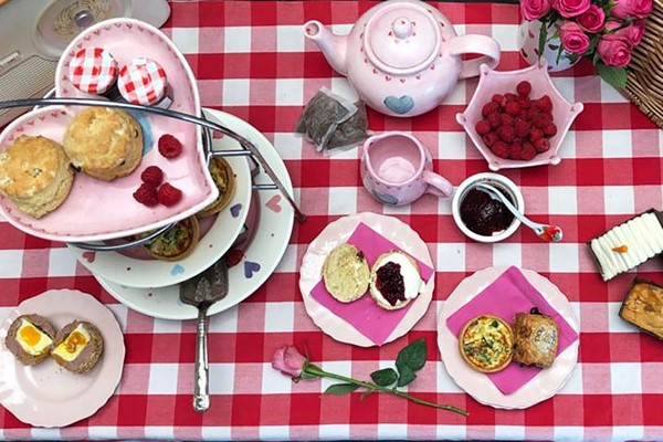 afternoon tea for two at home