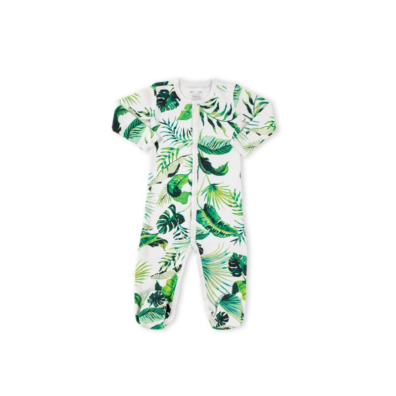 Botanical print sleep suit newborn baby gift ideas
