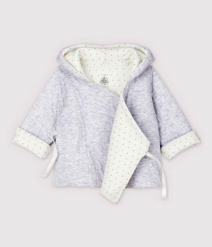 quilted grey hoodie newborn baby gift ideas