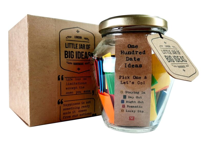 jar of 100 date night ideas for couples