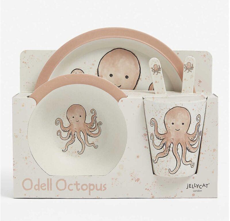 Jellycat Odell Octopus Dining Set Newborn baby gift ideas