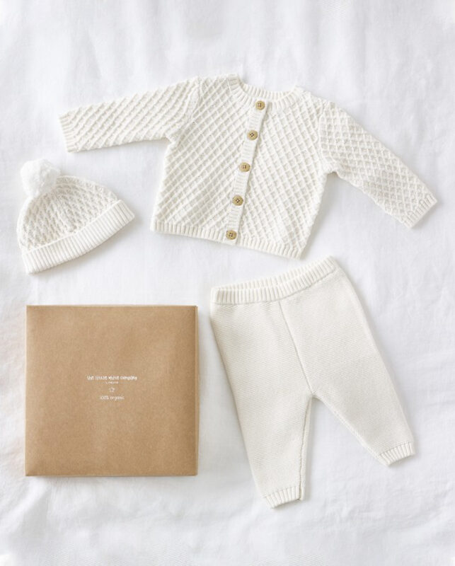 Knitted Organic Cotton Baby Gift Set