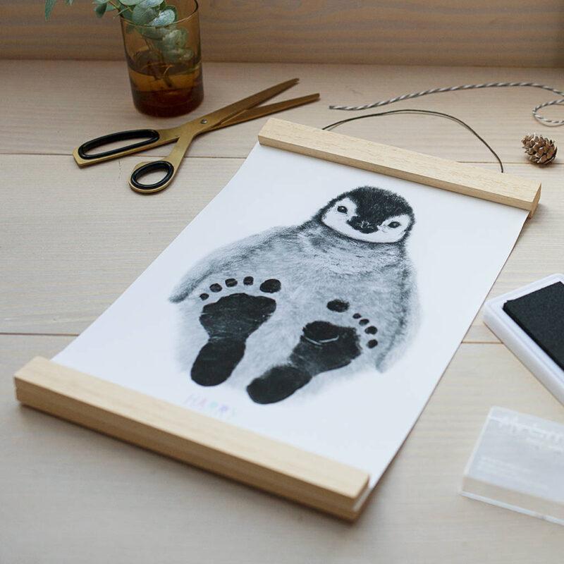 Cute penguin footprint newborn baby gift ideas