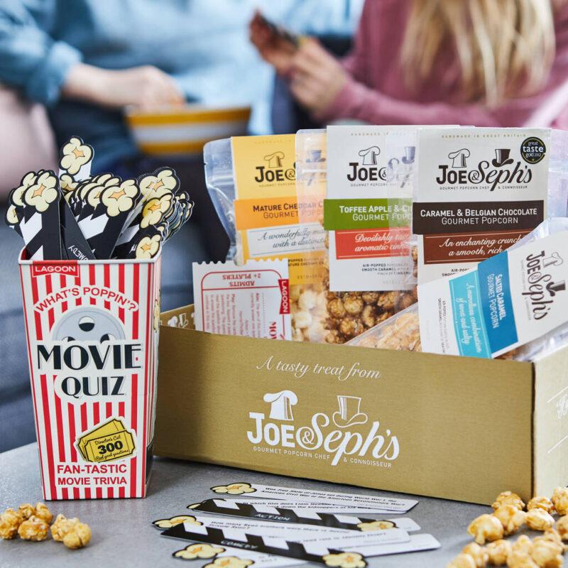 Popcorn and movie quiz box