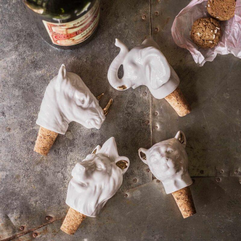 Animal Bottle Stoppers wine gift ideas